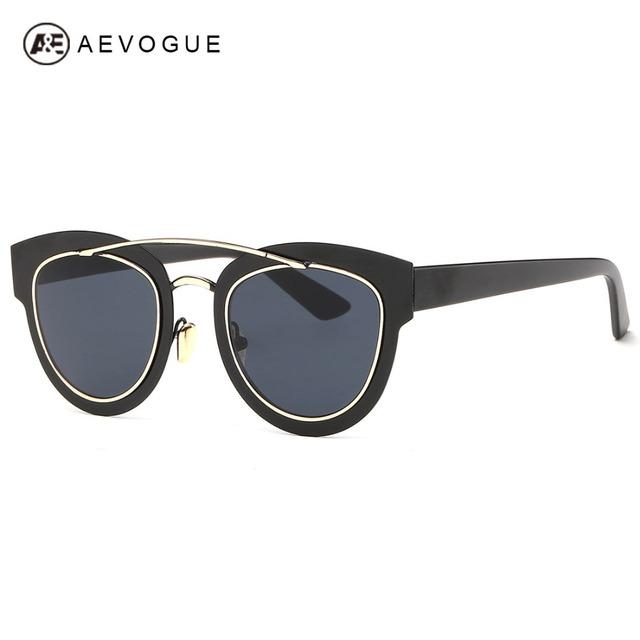 Aevogue очки женщины винтаж стимпанк круглый дизайнер музеальная панк металлической женские солнцезащитные очки óculos De Sol Femininos AE0298