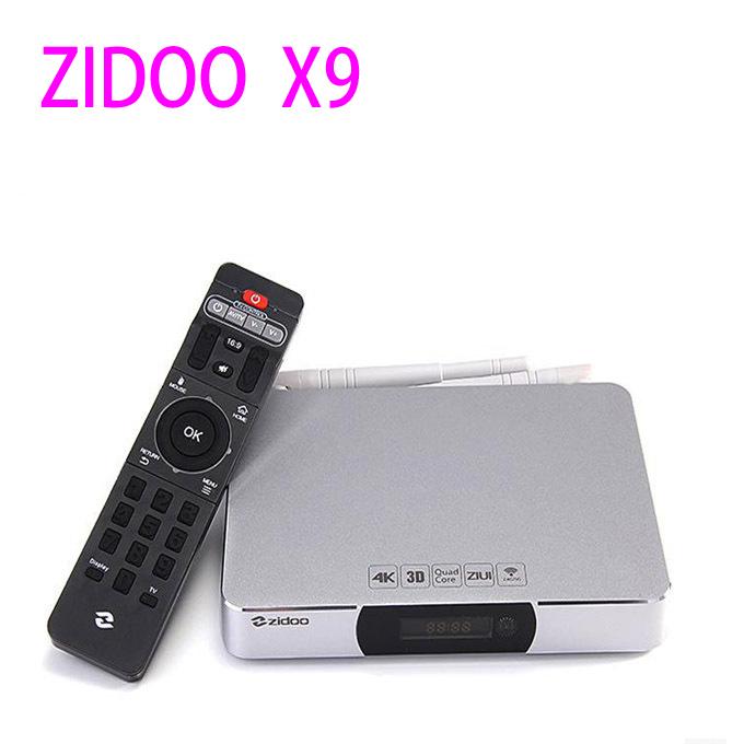 HDD Player ZIDOO X9 Allwinner H3 Quad Core Android TV Box 2G/8G H.265/HEVC 4K Output 802.11b/g/n 2.4GHz WiFi LAN Bluetooth OTA(China (Mainland))