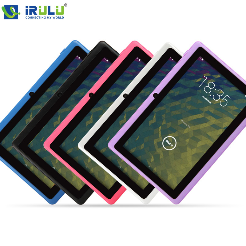 iRULU eXpro Tablet X1 7 inch PC Android 4.4 Quad Core 8GB Dual Cam 1024*600 HD Multi-Color Support OTG/WIFI New - iRulu-Net store