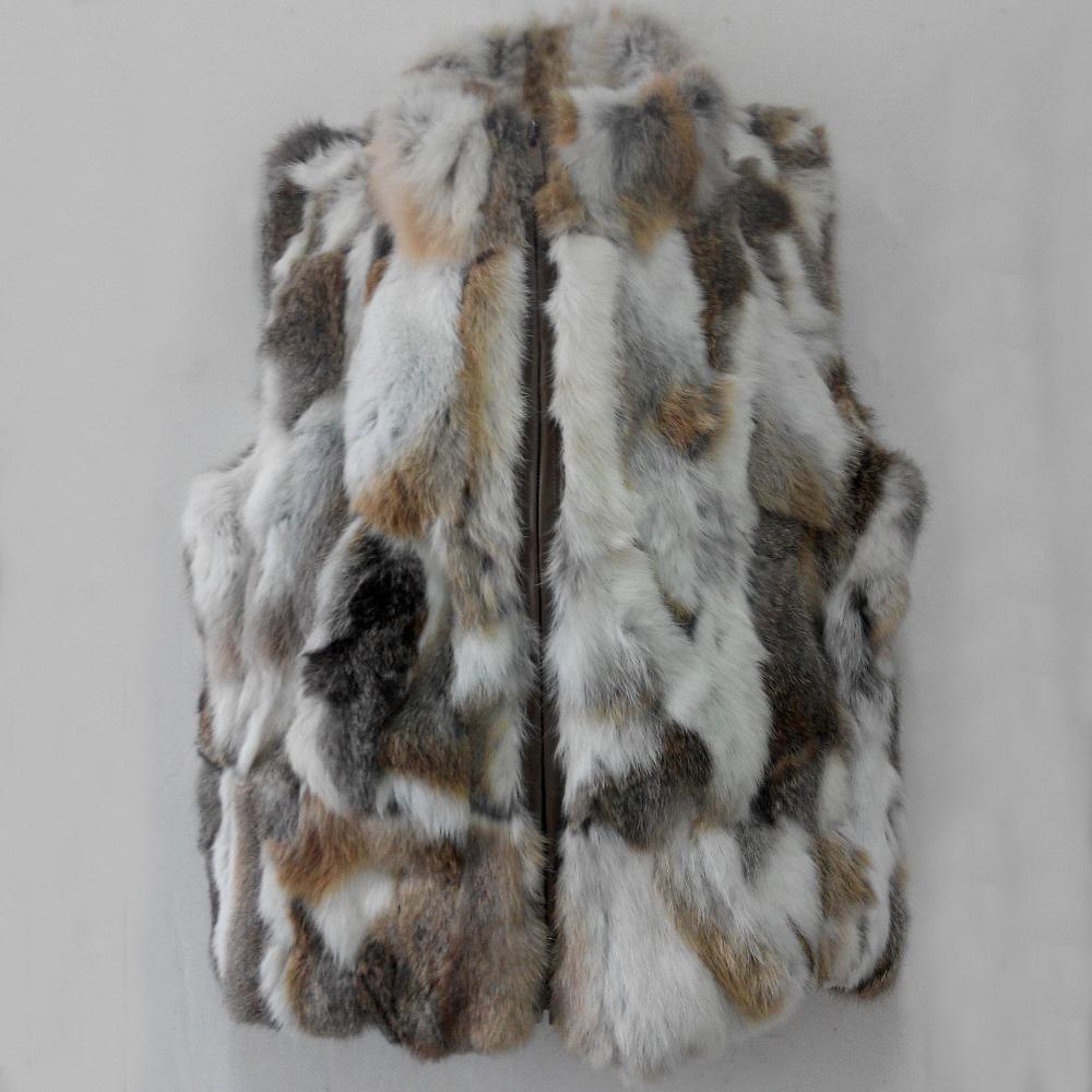 perte vente femmes hiver vrai lapin gilet de fourrure de femme veste sans manches dame manteau. Black Bedroom Furniture Sets. Home Design Ideas