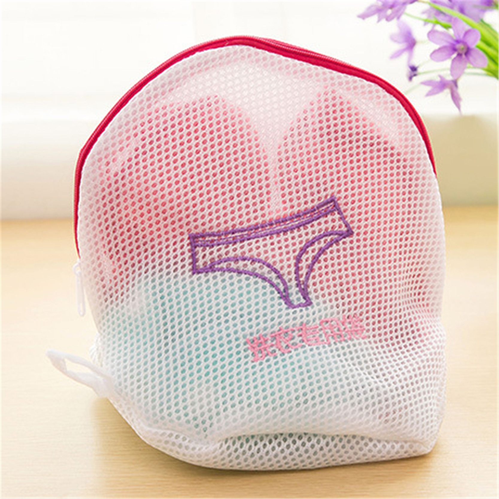 2016 Bra Underwear Clean Sanitary Convenience Thickened Laundry Bag Japanese Fine Embroidery mesh bag Household Cleaning Tools(China (Mainland))