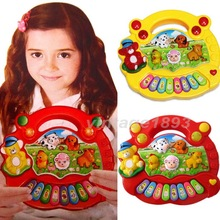 New Arrival! Yellow and Red Color Useful Popular Baby Kid Animal Farm Piano Music Toy Developmental (China (Mainland))