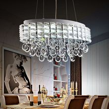 Modern Lustre Oval Crystal Chandeliers Luxury Crystal Pendant Lamps Restaurant Light Fixture Dining table Lighting bar Luminaire(China (Mainland))