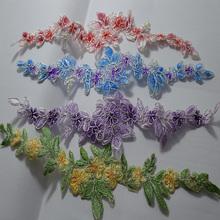 ( 8 шт./лот ) бесплатная доставка новое поступление свадебное платье украшено разнообразие органзы цветочная аппликация на Patches-001