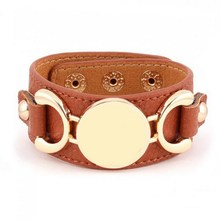 2016 New Style Monogram Leather Cuff Bracelet Pulseras 3 Row Gold/Silver Plated Multicolor Leather Bracelet For Women Men(China (Mainland))