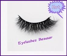 Free shipping D003 1pcs/lot 100% real siberian 3d mink fur strip false eyelash long individual eyelashes mink lashes extension(China (Mainland))