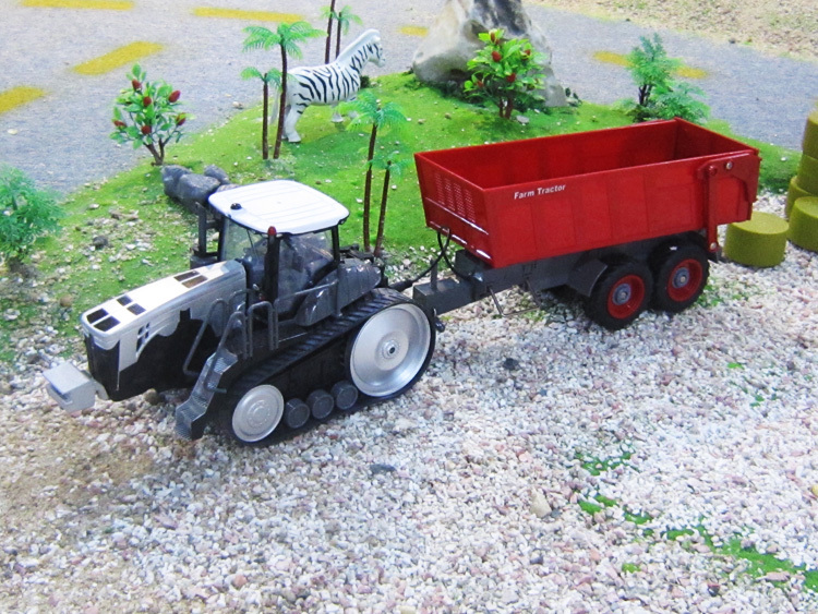 1:28 scale 6CH remote control RC truck,radio control multifunctional farm tractor dump trucks(China (Mainland))