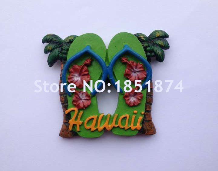 Handmade Painted Hawaii Surfboard Sandals Resin 3D Fridge Magnet Tourism Souvenirs Refrigerator Magnetic Stickers Home Decor