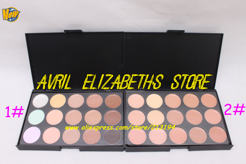 48PC/LOT 15 Color Concealer Camouflage Makeup Palette Face Eye Cream Concealer Foundation (#1and #2 ) Free Shipping Top Quality(China (Mainland))