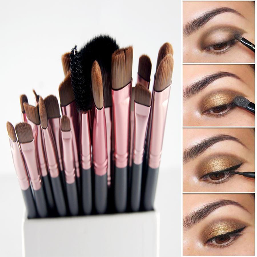 20Pcs paintbrushes of makeup Brushes Set Powder Foundation Eyeshadow Eyeliner Lip Brush Pro Makeup for Mac Makeup Sosmetic Tool(China (Mainland))