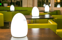 1pcs D14 H19CM Colorful changed rechargeable LED Egg ball night light tables of hotels and restaurants lampe de rable sans fil(China (Mainland))