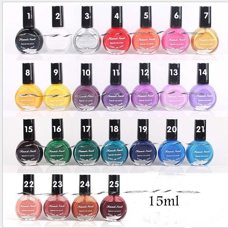 25 cores UV unhas de Gel polonês para Nail Art Stamping impressão óleo 10 ML especial esmalte pintado