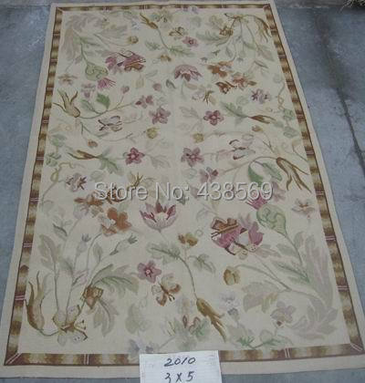 Free Shipping 3'x5' French Aubusson Weave Rugs-100% WOOL HANDWOVEN RUG(China (Mainland))