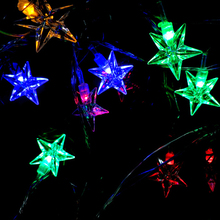 Buy 1Pcs 4.5M New 28 LEDs Pentagram String Fairy Light Christmas Xmas Party Wedding 5 Five Star Holiday Party Light for $4.08 in AliExpress store