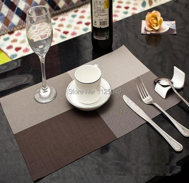 PU Leather Placemat Table Mat Doily Coaster Tea Dining Room Rectangle White