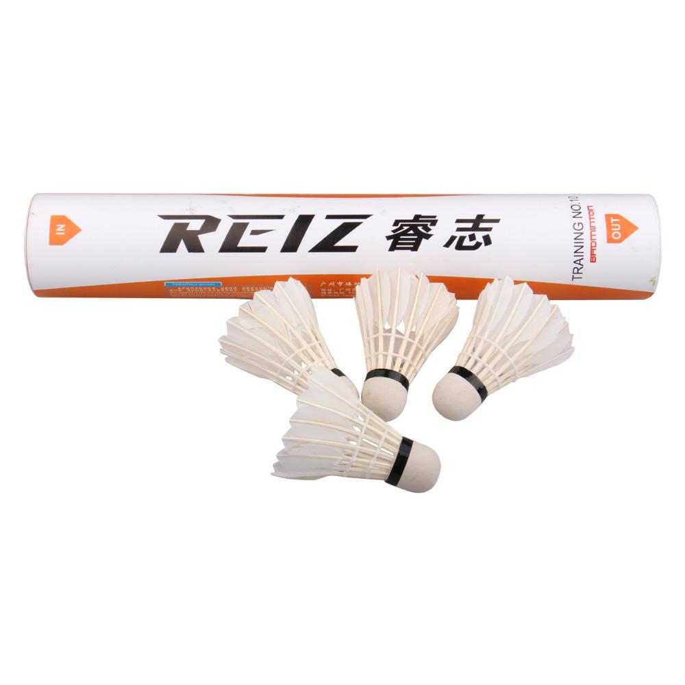 Free Shipping 12pcs/lot Goose Feather Shuttlecocks Badminton Balls Sport Training Wholesale M10(China (Mainland))