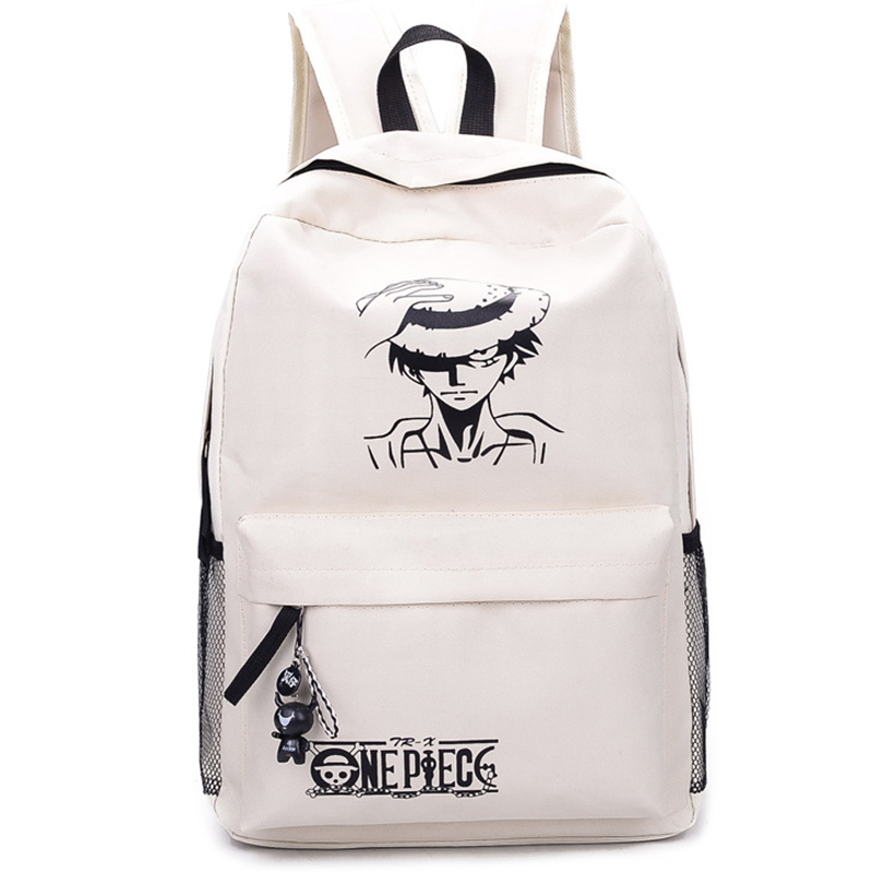2016 New Fashion One Piece Luffy School Bags Anime Bookbag Chirdren Teenagers Backpack Men Women Shoulder Bag(China (Mainland))