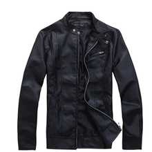 New Korea Men's Zip-up Slim Fit Designed PU Leather Jacket Coat Black/ Brown/ White M, L, XL 3273(China (Mainland))