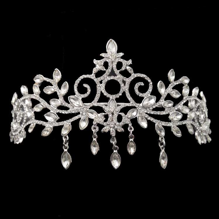 2014 Handmade wedding hair tiara Vintage crystal jewelry bridal party crown woman accessories XB41 - Kay's Wedding store