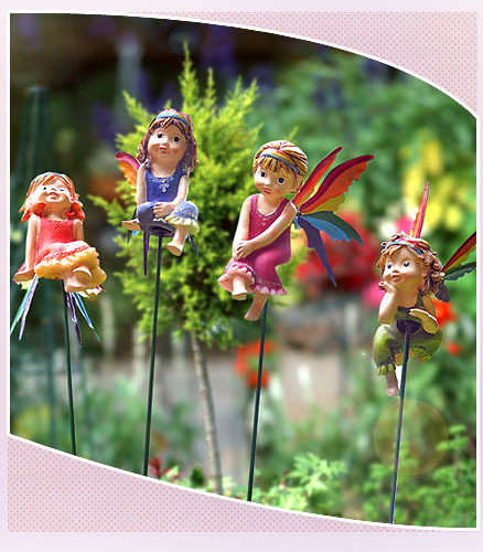 Adesivo Para Quarto De Bebe Feminino ~ European style flower garden balcony decorations ornaments ornaments Rainbow Flower Fairy Resin