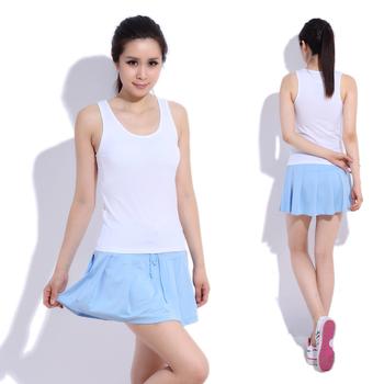 15$ Mini Order Free Shipping Sleeveless tank dress boxer shorts yoga clothes tennis ball fitness badminton set piece