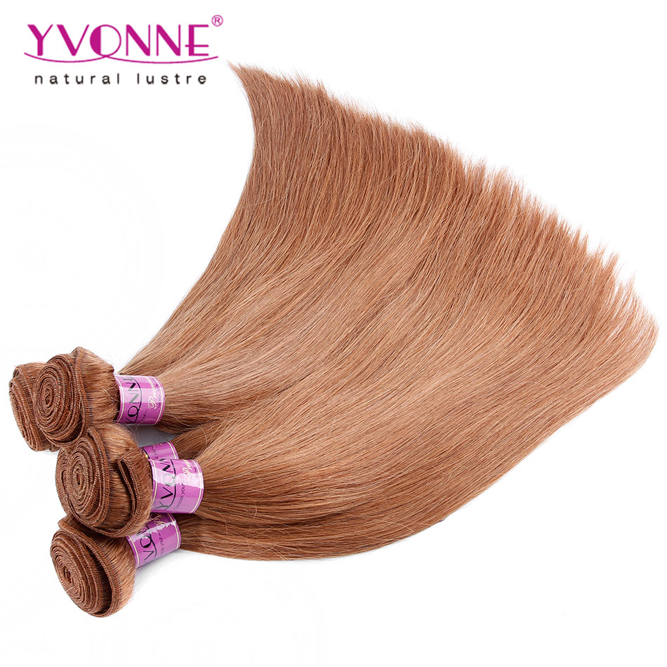 3Pcs/lot Peruvian Straight Hair Bundles,100% Human Hair Weave,Aliexpress YVONNE Hair Products,Color #30(China (Mainland))