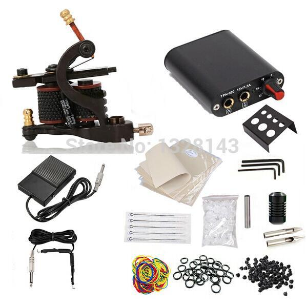 Wholesale completetattoo starter kit machine guns color for Cheap tattoo supplies free shipping