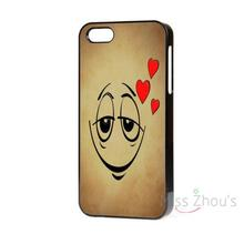 For iphone 4/4s 5/5s 5c SE 6/6s plus ipod touch 4/5/6 back skins mobile cellphone cases cover NEW FUNNY EMOTIONS SMILEY LOVE