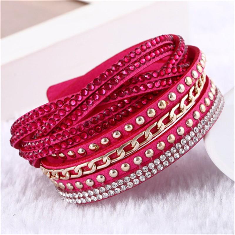 2016 новых унисекс многослойные кожаный браслет рождественский подарок шарм браслеты старинные ювелирные изделия для женщин Pulsera