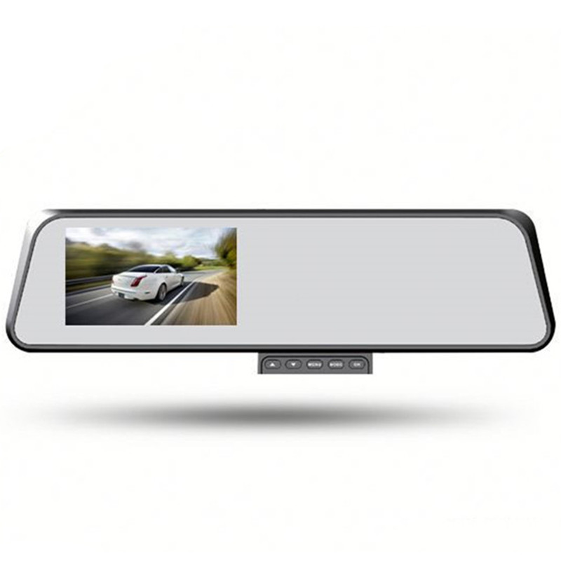 wire free one second startup special 4.3 TFT 1080P  HD car rearview mirror camera dvr 4.3 inch dual lens vedual lens car camera<br><br>Aliexpress