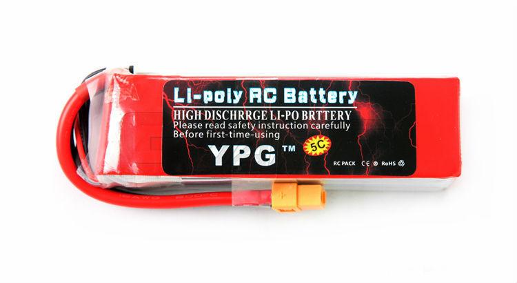 YPG 2600mAh 14.8V 35C 4S Lipo Li-Po Lipoly High performance Battery RC Hobby
