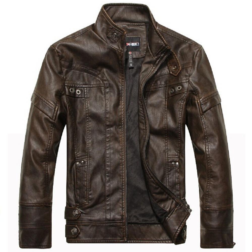 New fashion brand bomber jacketleather jacket men autumn and winter leather clothing men leather jacket men business casual coat(China (Mainland))