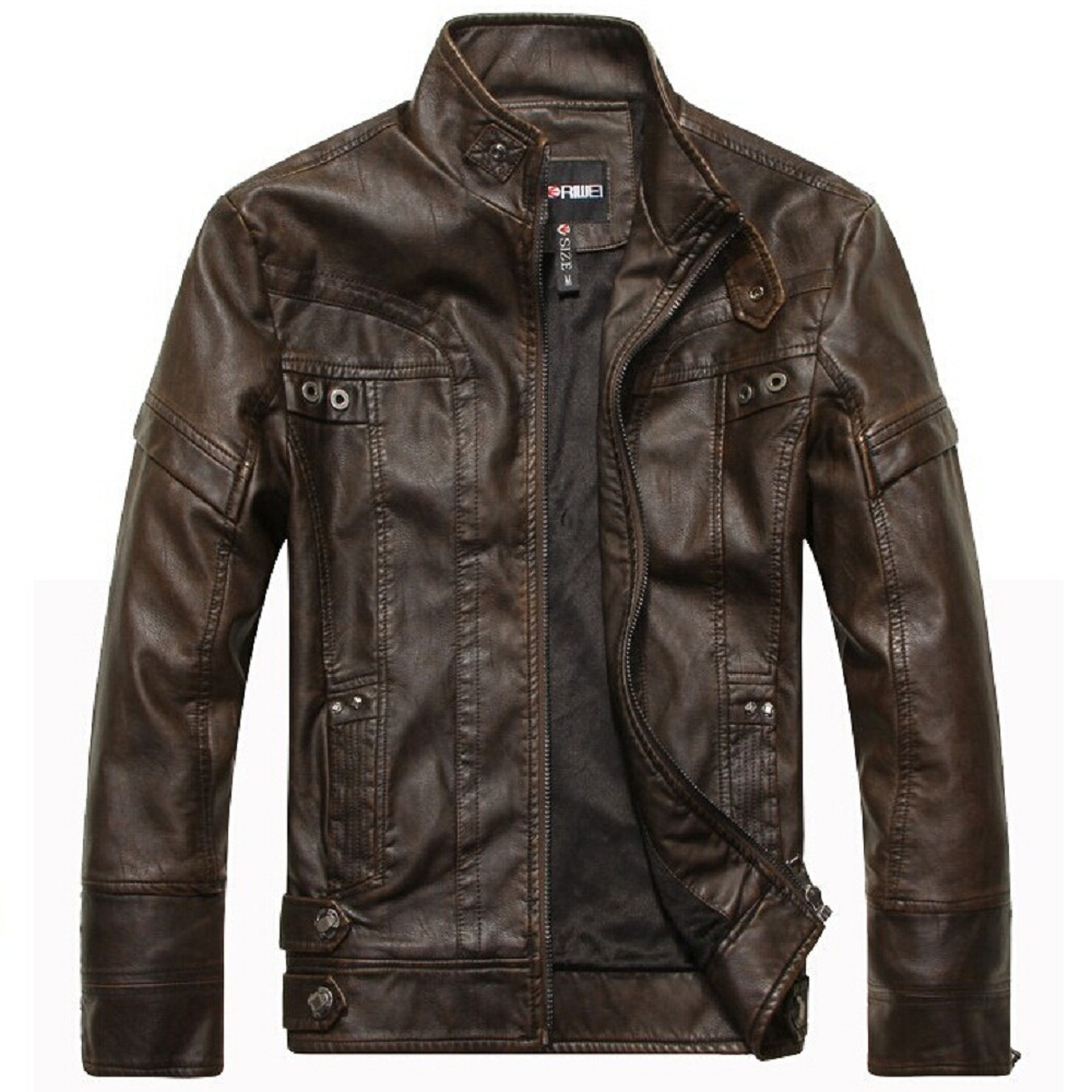 New fashion brand motorcycle leather jacket men autumn and winter leather clothing men leather jacket men business casual coat(China (Mainland))