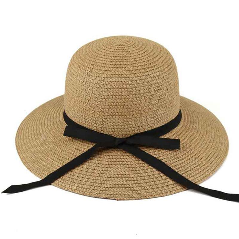 Summer Straw Sun Hats For Women Fashion Wide Brim Kentucky Derby Fedora Hats Girls Visor Beach Hats For Women Casquette Cap(China (Mainland))
