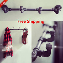 Wall Hangers on the Wall Clothing Display American Retro Iron Pipe Coat Rack Clothing Store Shelf Hanging Rod-Z4(China (Mainland))