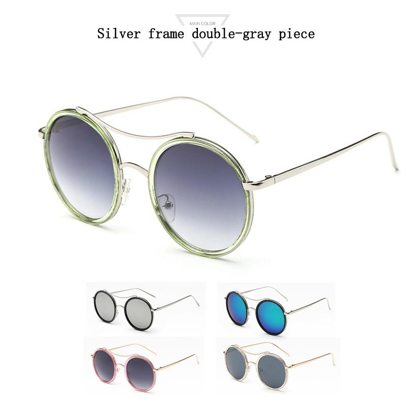Fashion Vintage Round Sunglasses For Women Men Brand Designer Mirrored Glasses Retro Female Male Sun Glasses Men's Women's Pixel(China (Mainland))