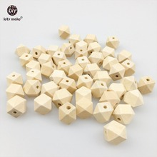 Buy Let's Make organic Wood Unfinished Geometric Teether Beads Wooden Octagon 50pc Baby Teether DIY Accessories 16mm for $7.98 in AliExpress store