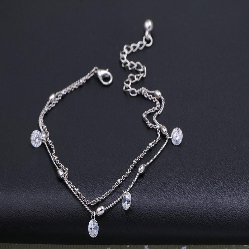 Fashion crystal ankle bracelet foot pulsera tobillo silver leg chain stone anklets for women gift summer beach bracelet cheville