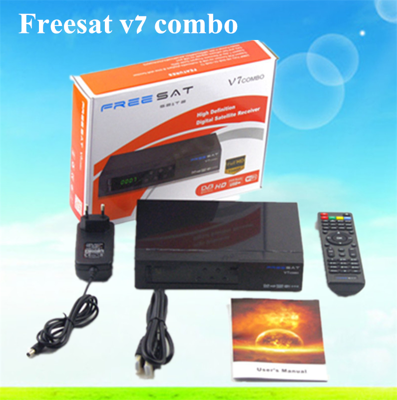 Freesat V7 combo FTA DVB-S2 DVB-T2 digital satellite receiver Satellite tv receiver decoder Support USB WIFI Youtube Youporn(China (Mainland))