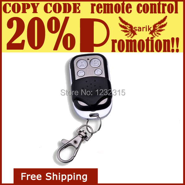 Top selling!! 10PCS/lots 4 channel universal remote control duplicator Copy Code Remote 433 mhz garage door opener free shipping(China (Mainland))