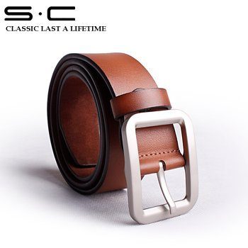 S.C Free Shipping wholesale + genuine Cow leather waist belt + Spin Buckle Belts + Simple Cowhide Belt +2012 fashion PY0010-1-ZX