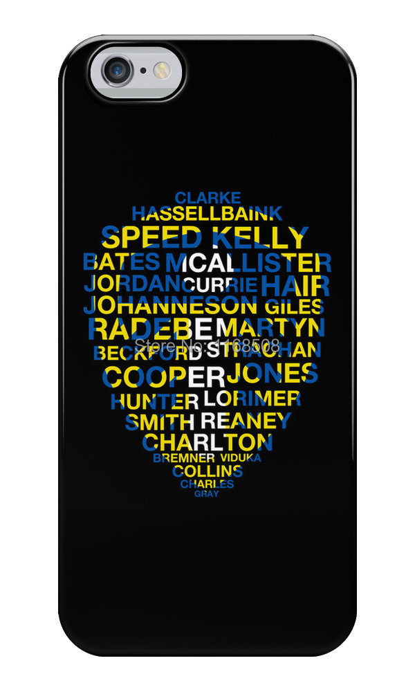 Free shipping custom design funny Leeds United Best Players Badge Silicon soft TPU case cover for iphone 6 4.7' and 6 Plus 5.5'(China (Mainland))