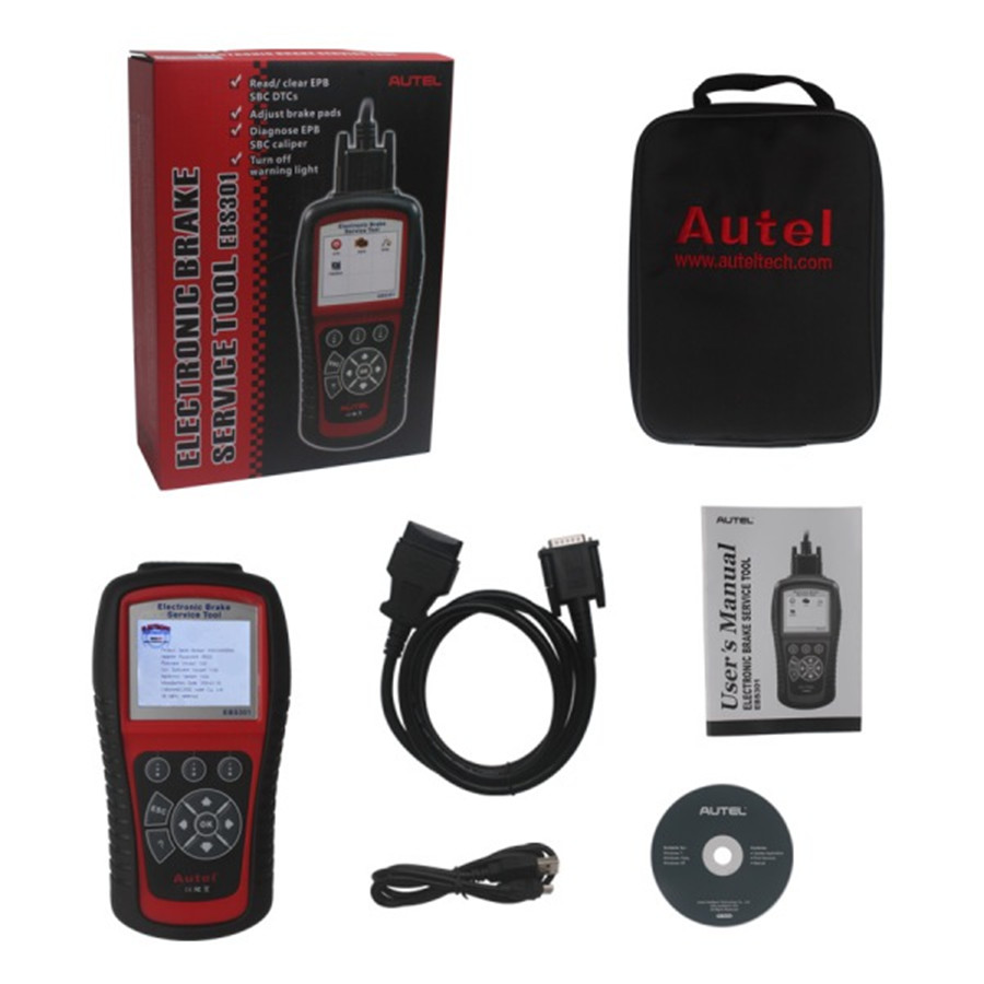 2016 specially designed Autel MaxiService EBS301 Electric Brake Service Tool EBS 301 Scanner EBS-301 Wholesale Price(China (Mainland))