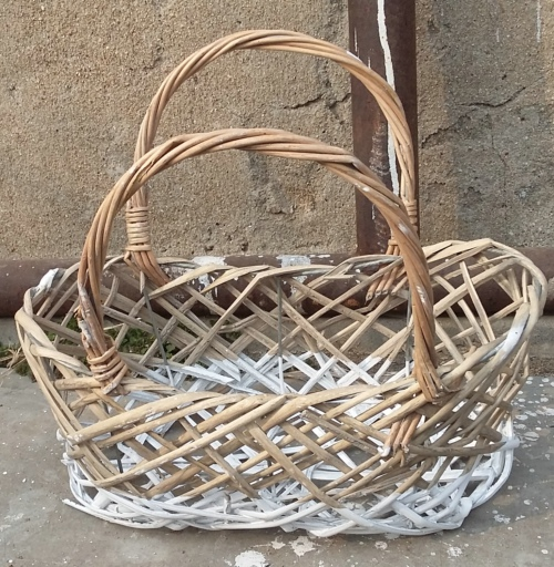 Free shipment willow wicker flower pot baskets decoration for home and garden for succulent and artificial flowers natural(China (Mainland))