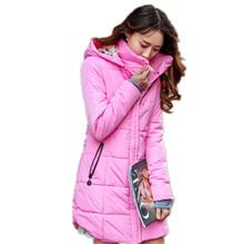 Плюс размер Конфеты цвет Slim Down пальто Хлопка женщины Куртка 6XL Осень зимняя куртка Женщины Толстый Капюшоном Хлопка-Проложенный куртка TT1685C(China (Mainland))