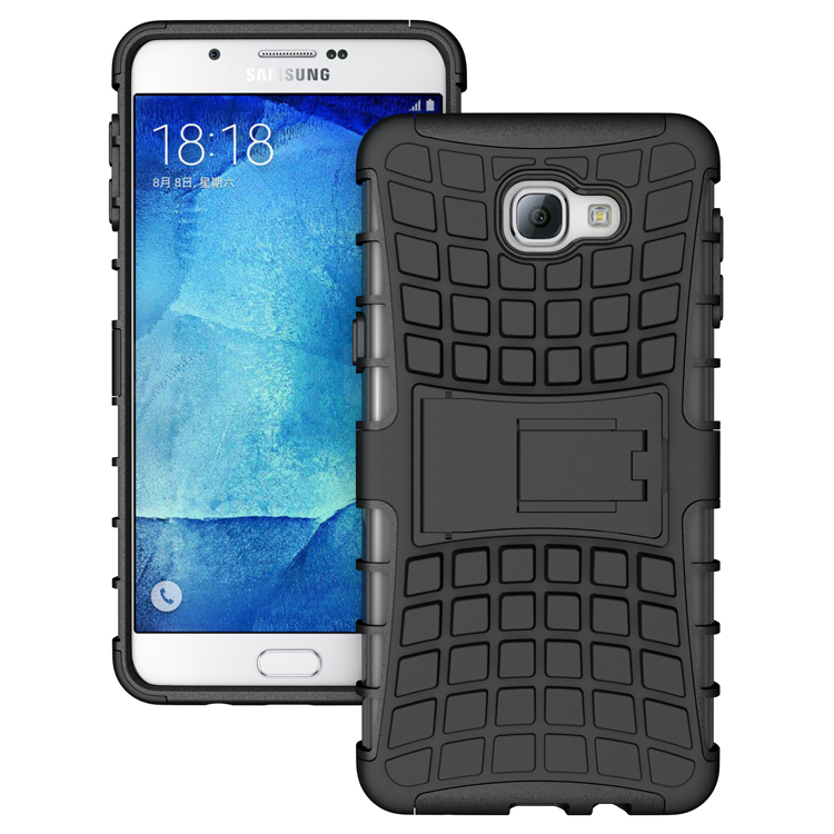 For Samsung Galaxy A9 A900 A9000 Hard Cover Heavy Duty Armor Hybrid Rugged Rubber Silicone Stand Phone Case for Samsung A9(China (Mainland))