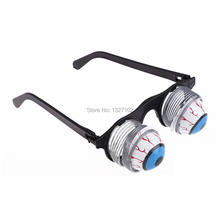 Pop Out Eye Dropping Eyeball Glasses Horror Terror Scary Party Prank Joke toys  MTY3(China (Mainland))