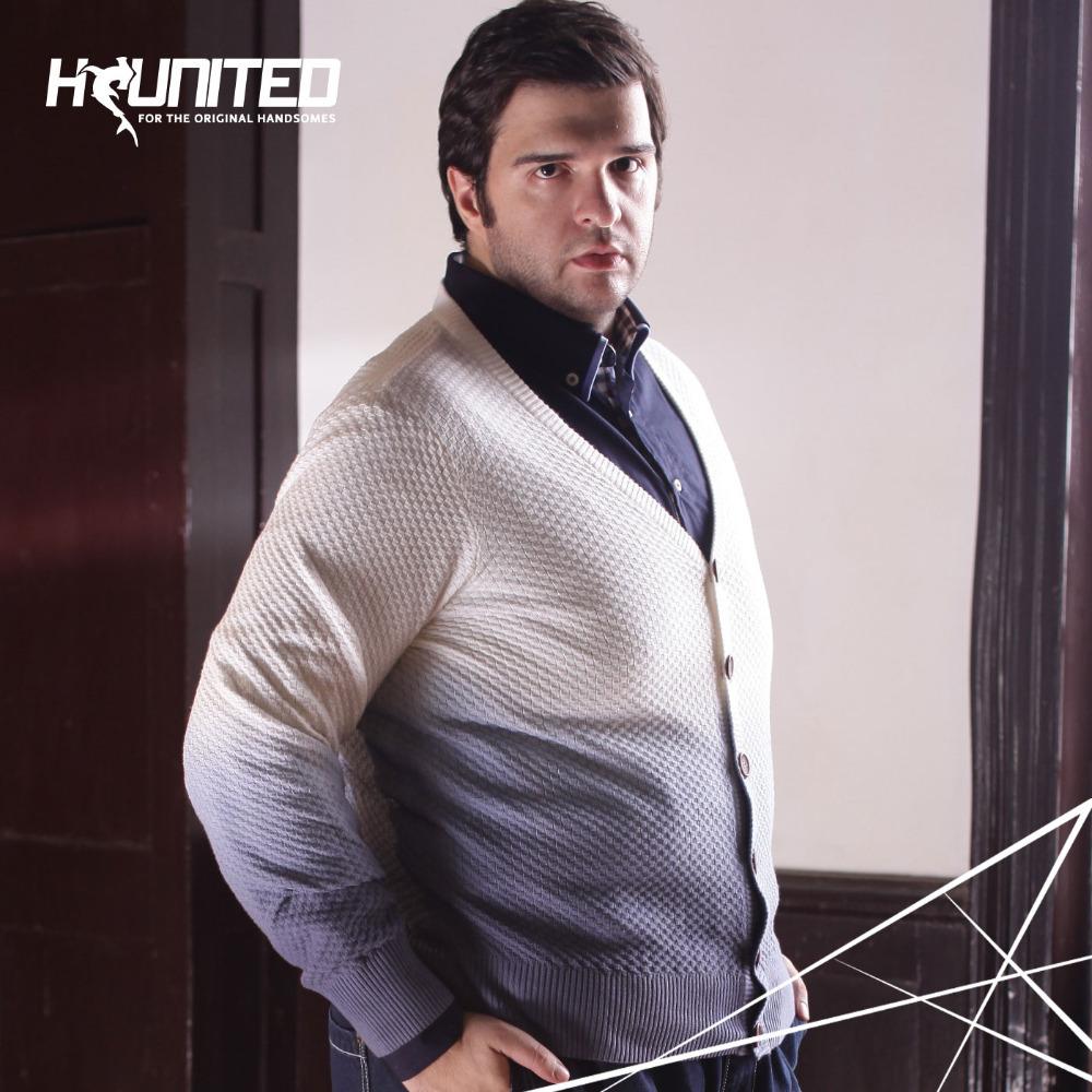Spring Autumn Mens Plus Size Sweater :Big Man v-neck Long Sleeve Knitted Cardigan, Men Big Size Clothing 2XL-5XL(China (Mainland))