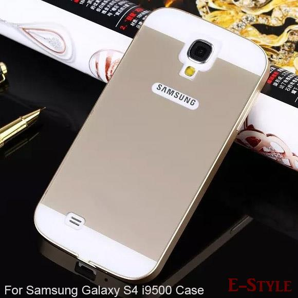 Гаджет  S4  Mix Color Acrylic Back Cover + Aluminum Metal Frame Case For Samsung Galaxy S4 i9500 bags Brand Mobile phone Cover None Телефоны и Телекоммуникации