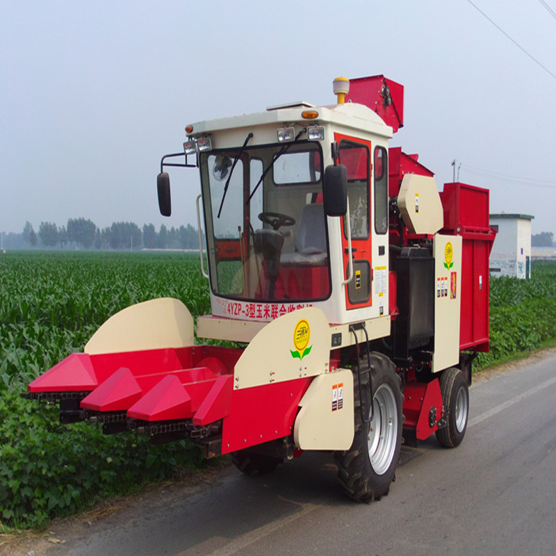 92KW 4YZP-3 Self-Propelled 3 Row Corn Grain Lifter Combine Harvester, Self-walking Could harvest the Fallen Corn Stalk(China (Mainland))